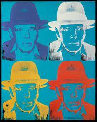 """Andy Warhol, """"Joseph Beuys, State III"""", 1980 -1983, serigrafia su carta. Dalla mostra """"Warhol and Friends - New York negli anni '80"""", Palazzo Albergati, Bologna, 2018-19."""